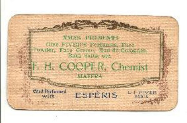 Cooper Chemist Maffra perfumed with Esperis by L T Piver