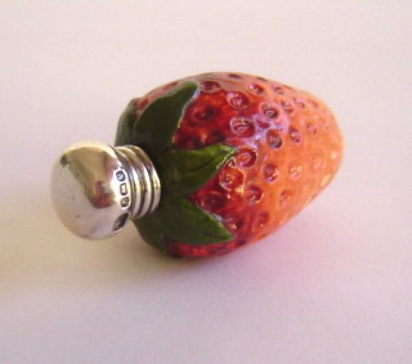 Porcelain Srawberry with Silver Cap