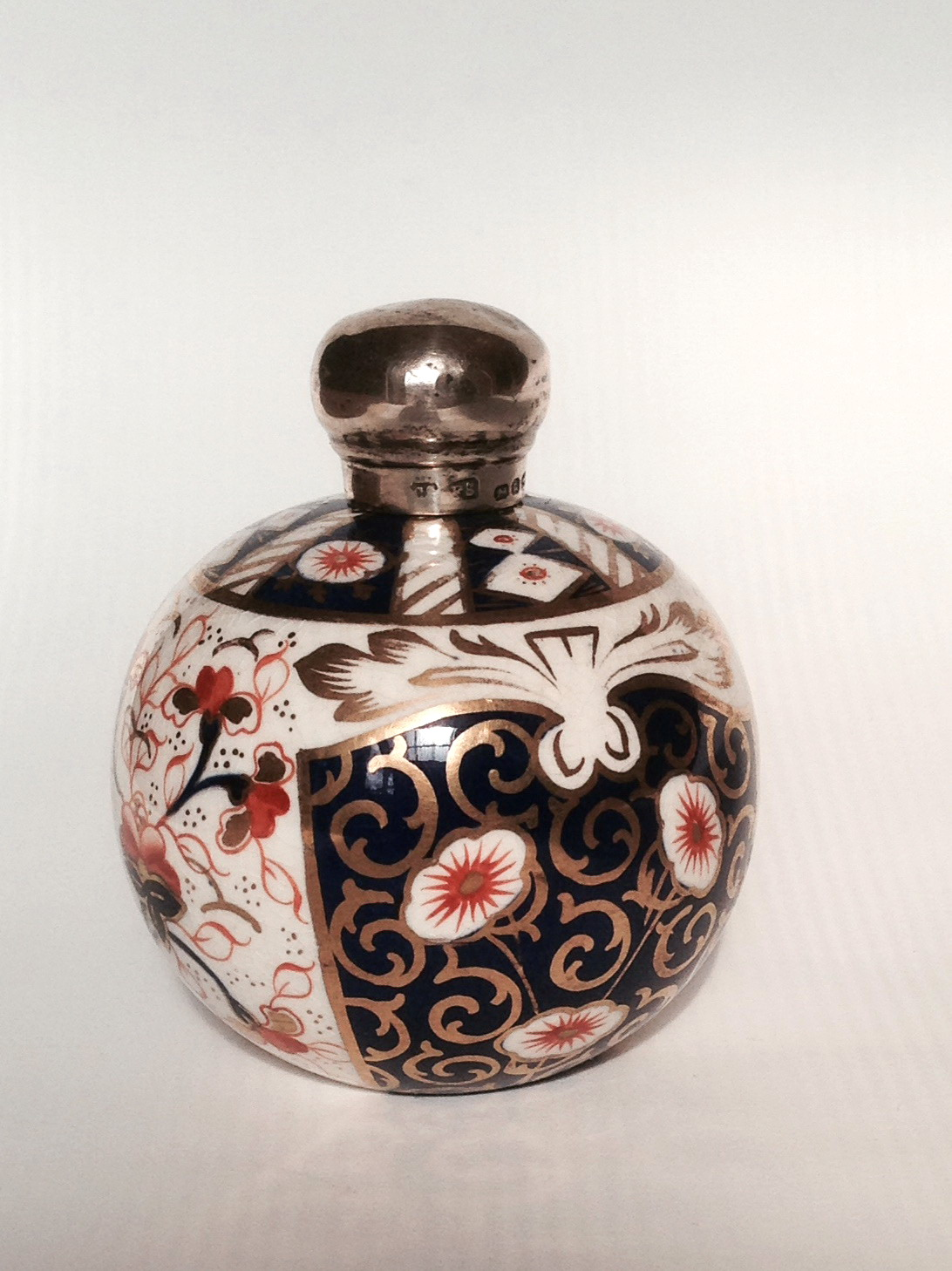 Imari Perfume Bottle with Stg Silver cap