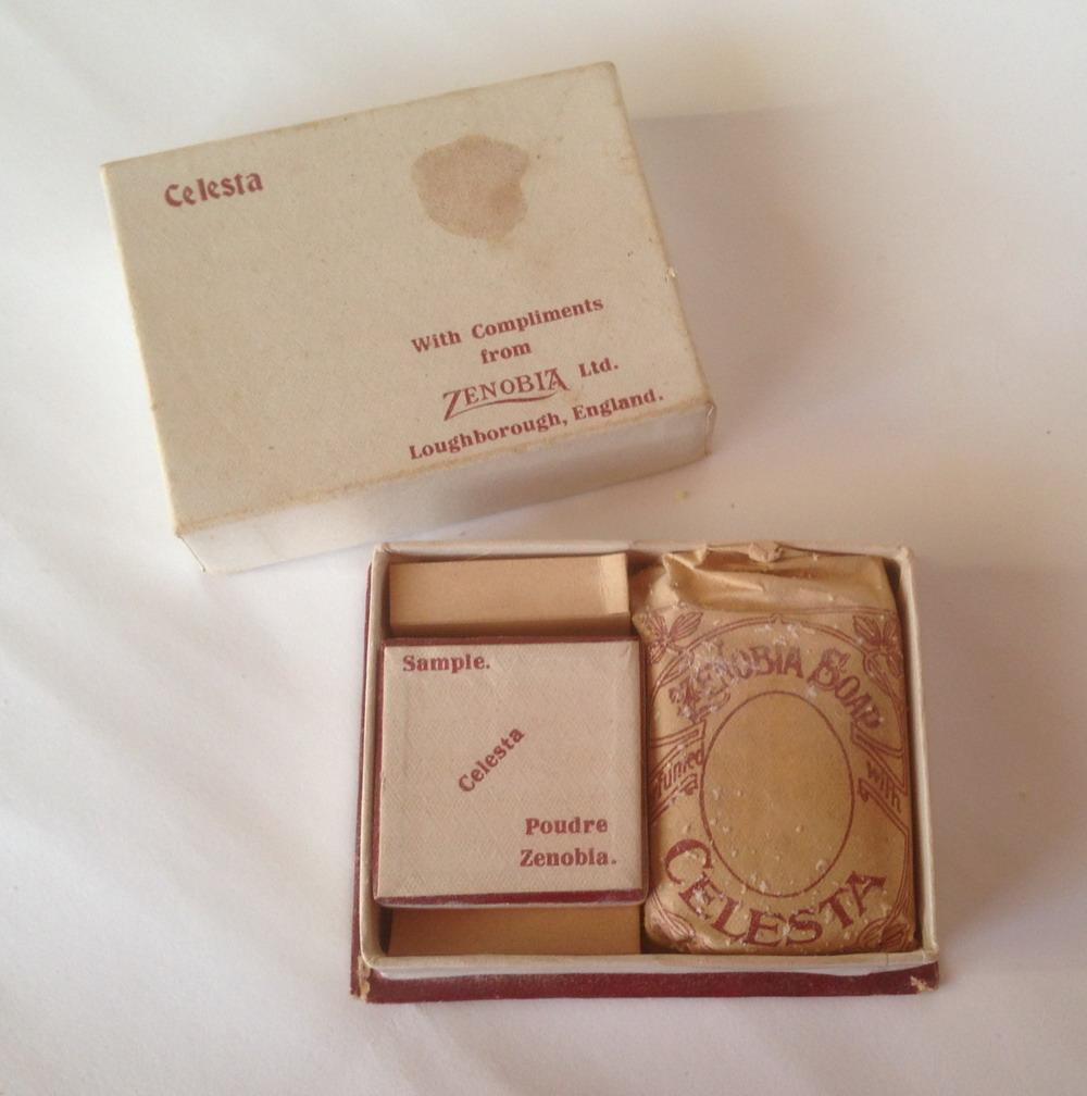 Zenobia - Celesta, powder and soap sample box
