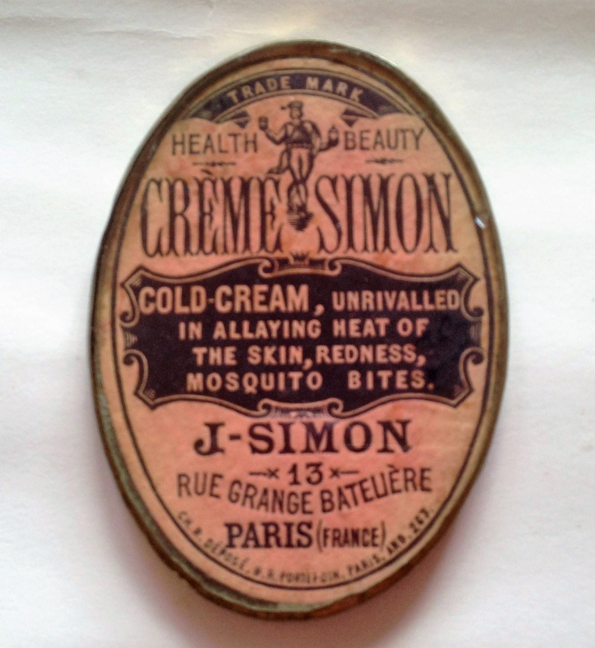 Creme Simon Pocket mirror